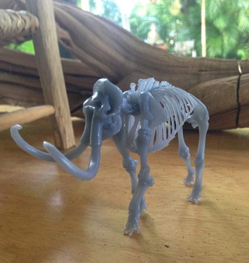 Mammoth skeleton print on the Formlabs Form http://bit.ly/Ik37h8
